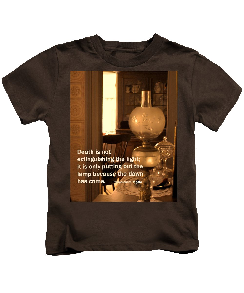 Lamp Kids T-Shirt featuring the photograph The Dawn Has Come by Ian MacDonald