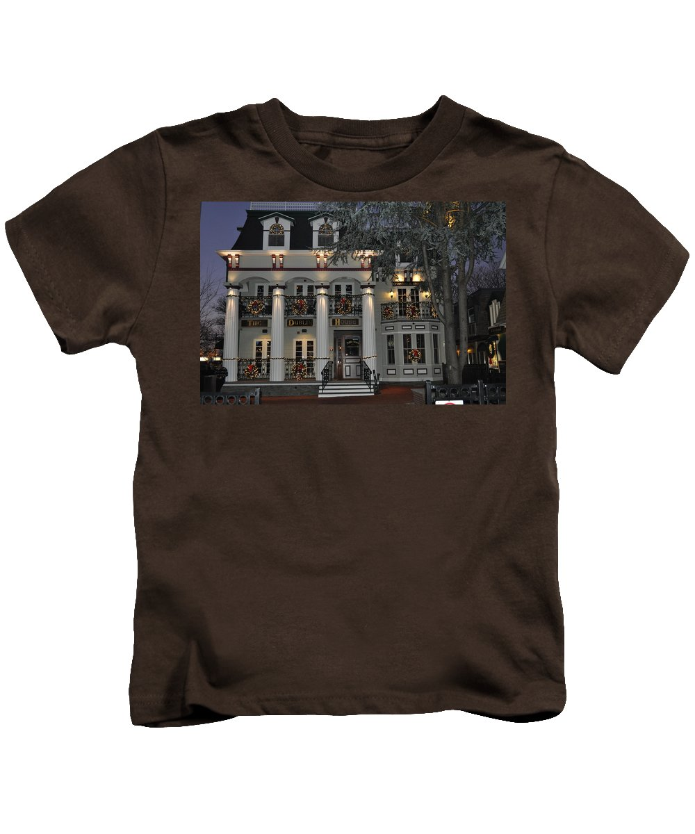 The Dublin House Kids T-Shirt featuring the photograph The Dub by Catherine Conroy