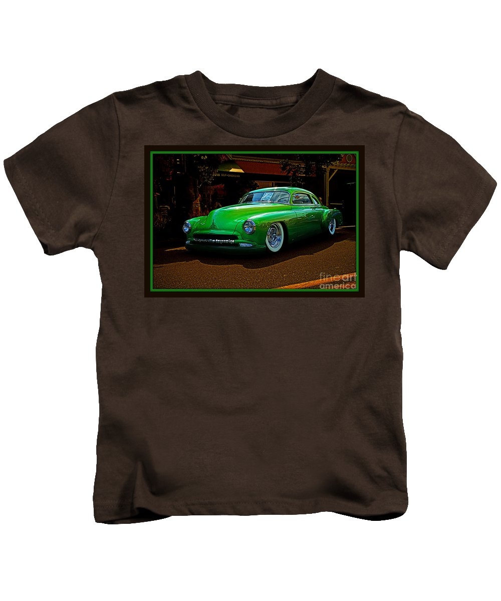 Old Cars Kids T-Shirt featuring the photograph The Green Machine by Randy Harris