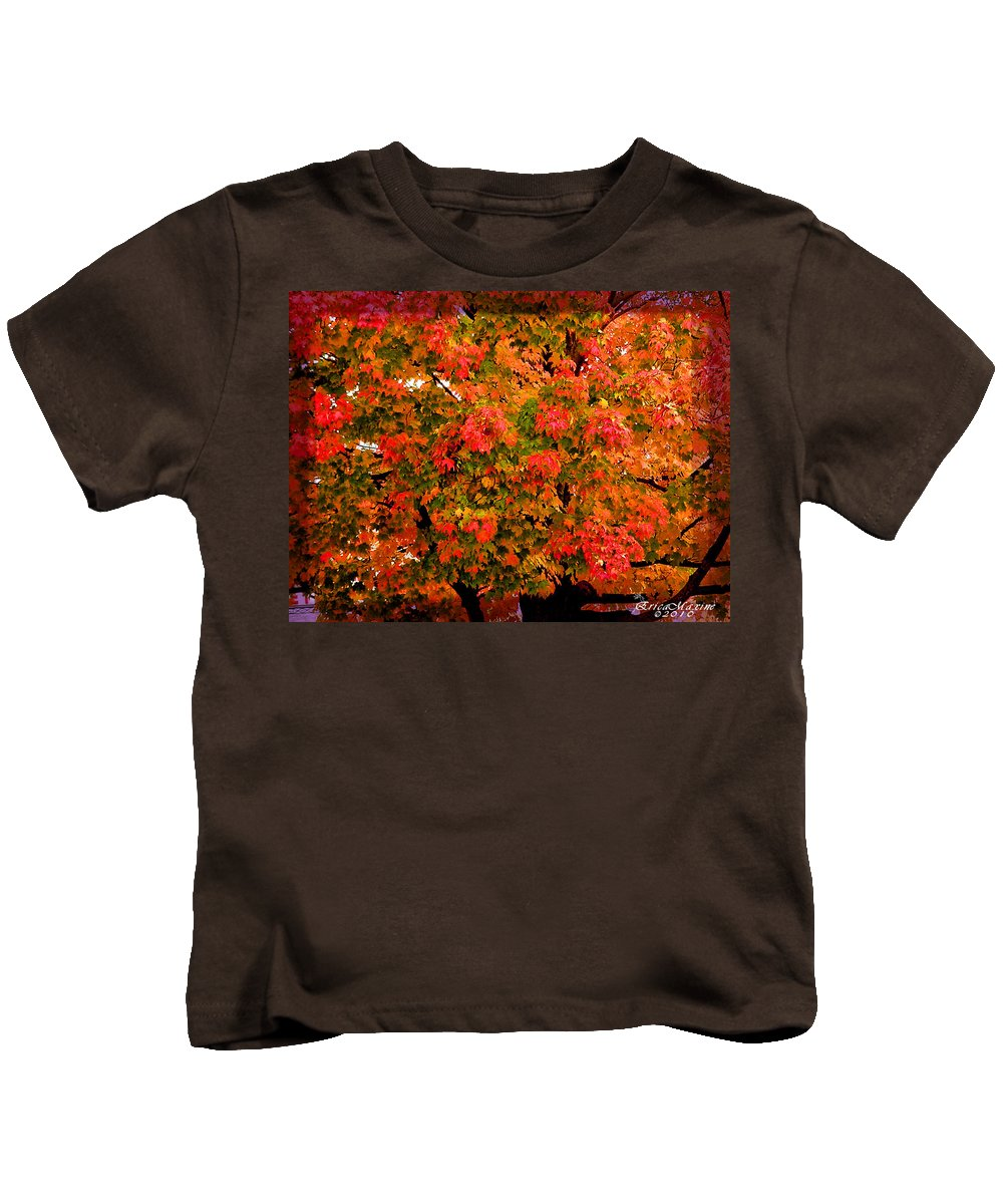 Tree Kids T-Shirt featuring the digital art Tn Fall by Ericamaxine Price