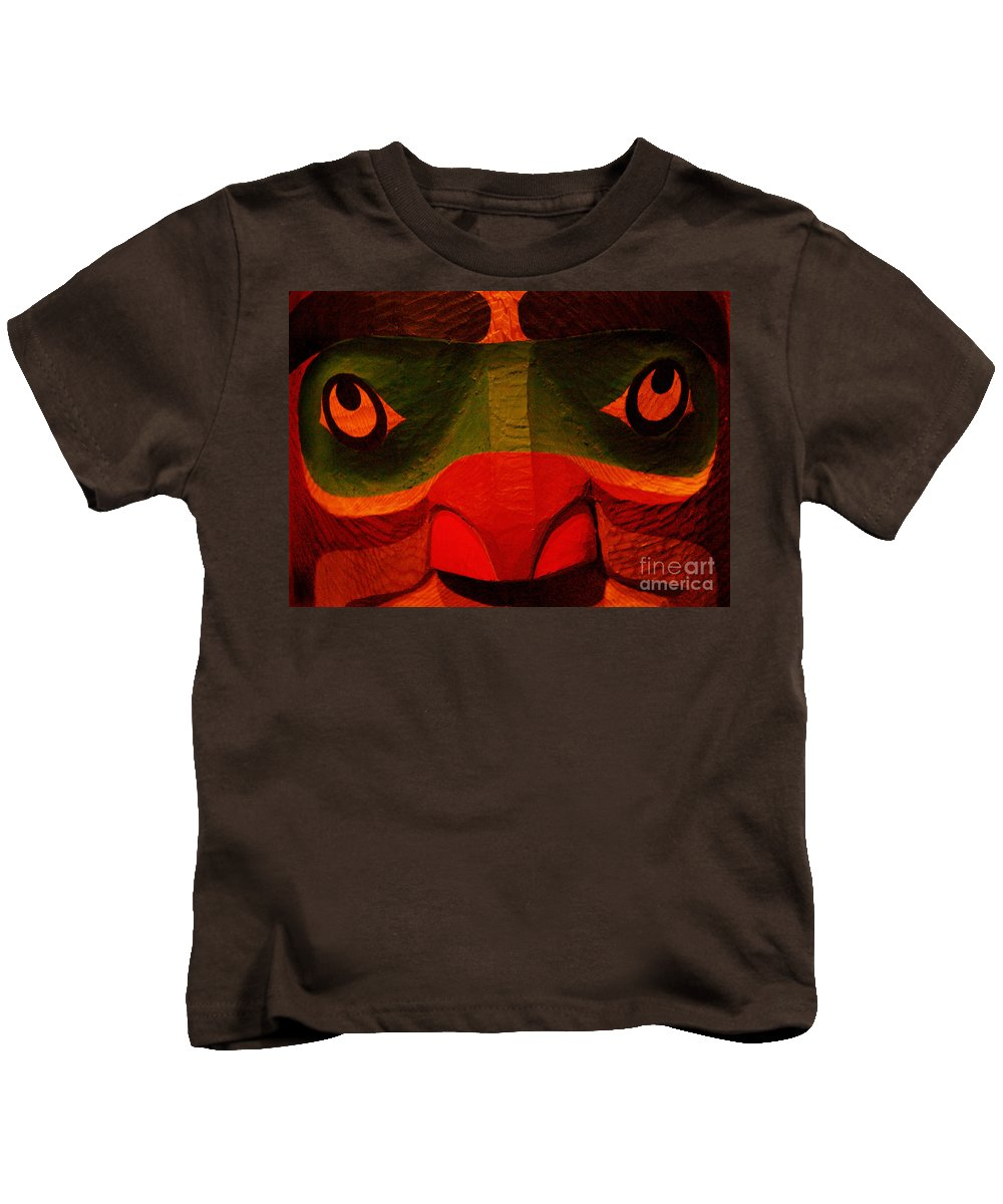 Totem Kids T-Shirt featuring the photograph Totem by Ellen Cotton
