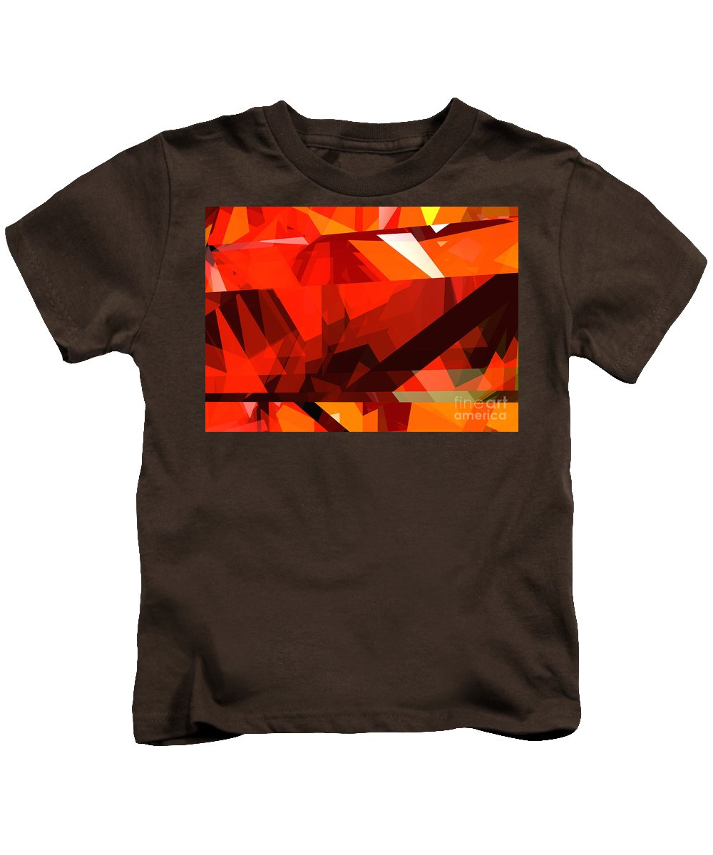 Abstract Kids T-Shirt featuring the digital art Tower Series 14l by Russell Kightley