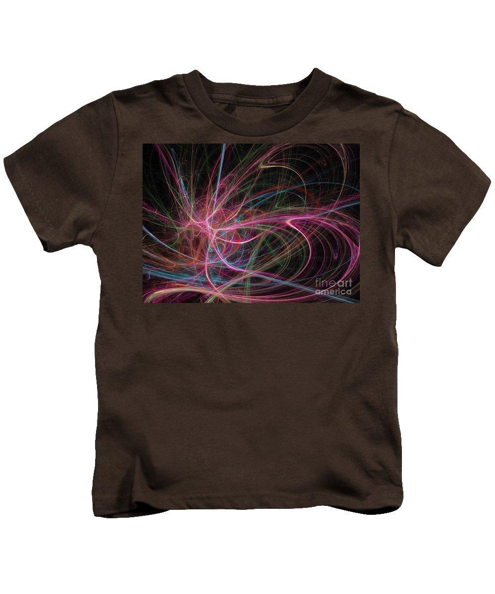 Apophysis Kids T-Shirt featuring the digital art Venus by Kim Sy Ok