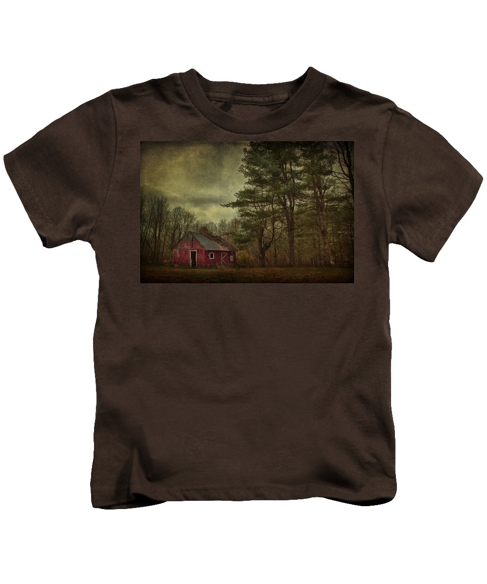 Barn Kids T-Shirt featuring the photograph Watching Over Me by Evelina Kremsdorf