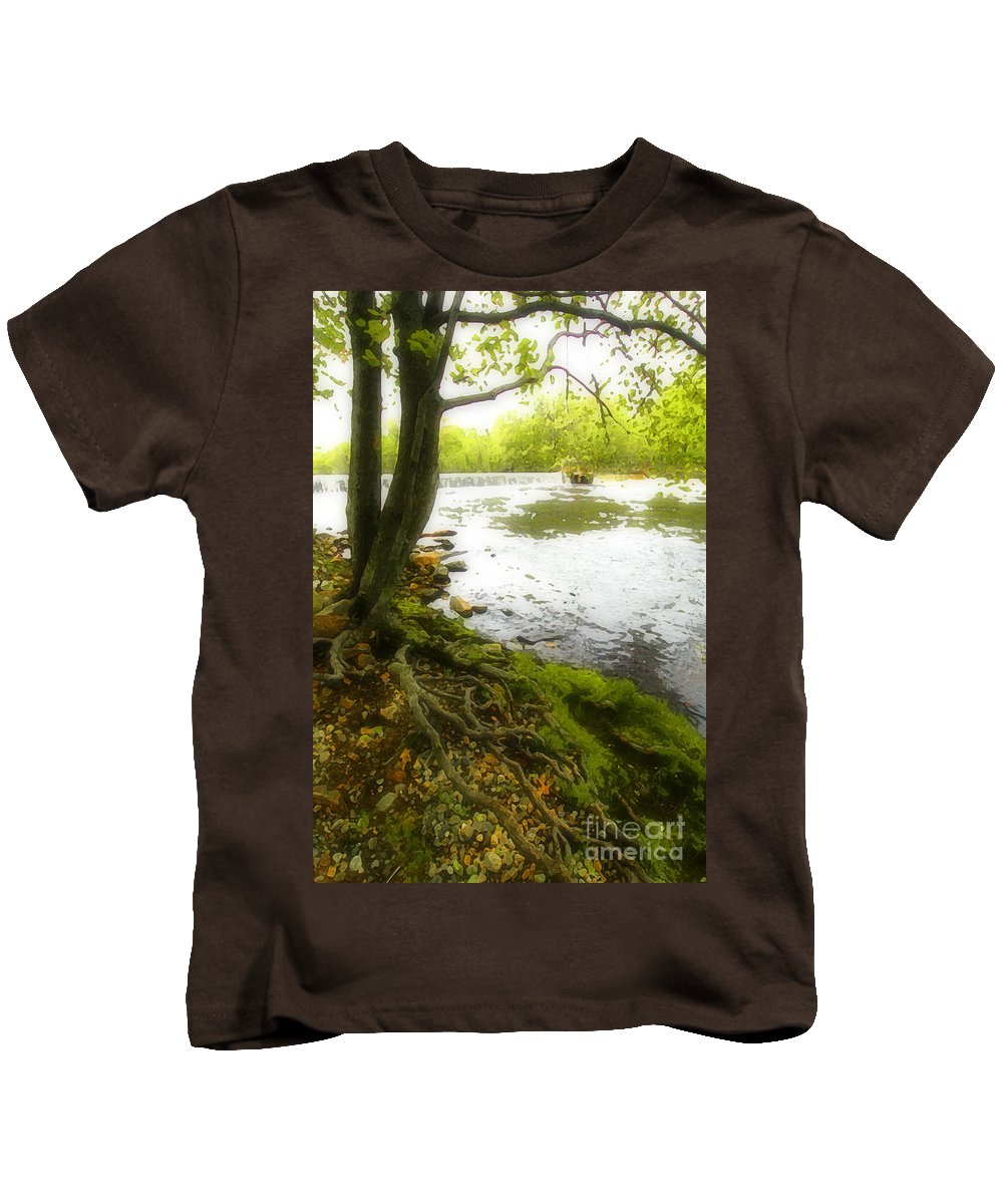 Digital Kids T-Shirt featuring the photograph Watercolours 128 by Mike Nellums