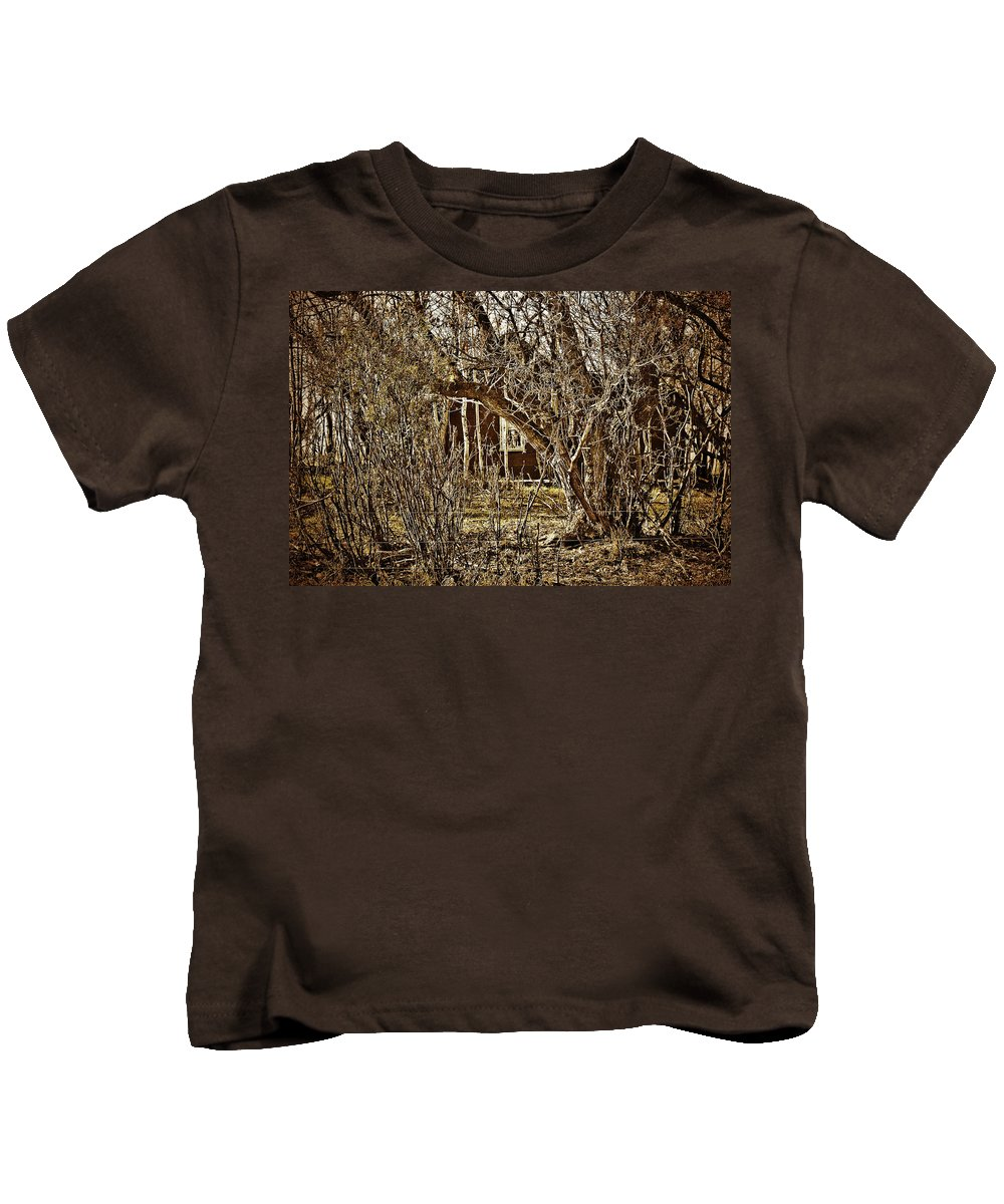 Kids T-Shirt featuring the photograph Window Of Roots by The Artist Project