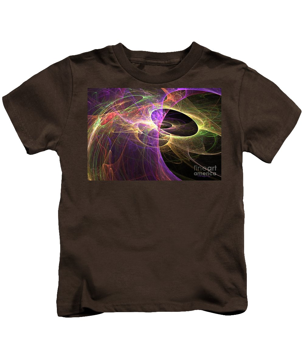 Worm Kids T-Shirt featuring the digital art Worm Holes by Greg Moores