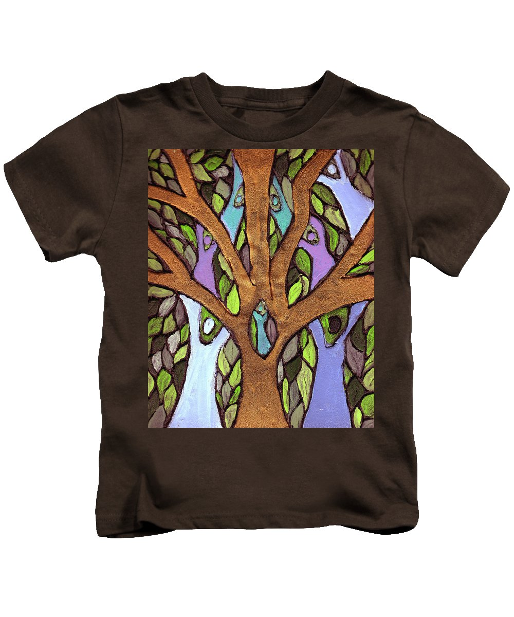Family Kids T-Shirt featuring the painting All For One by Wayne Potrafka
