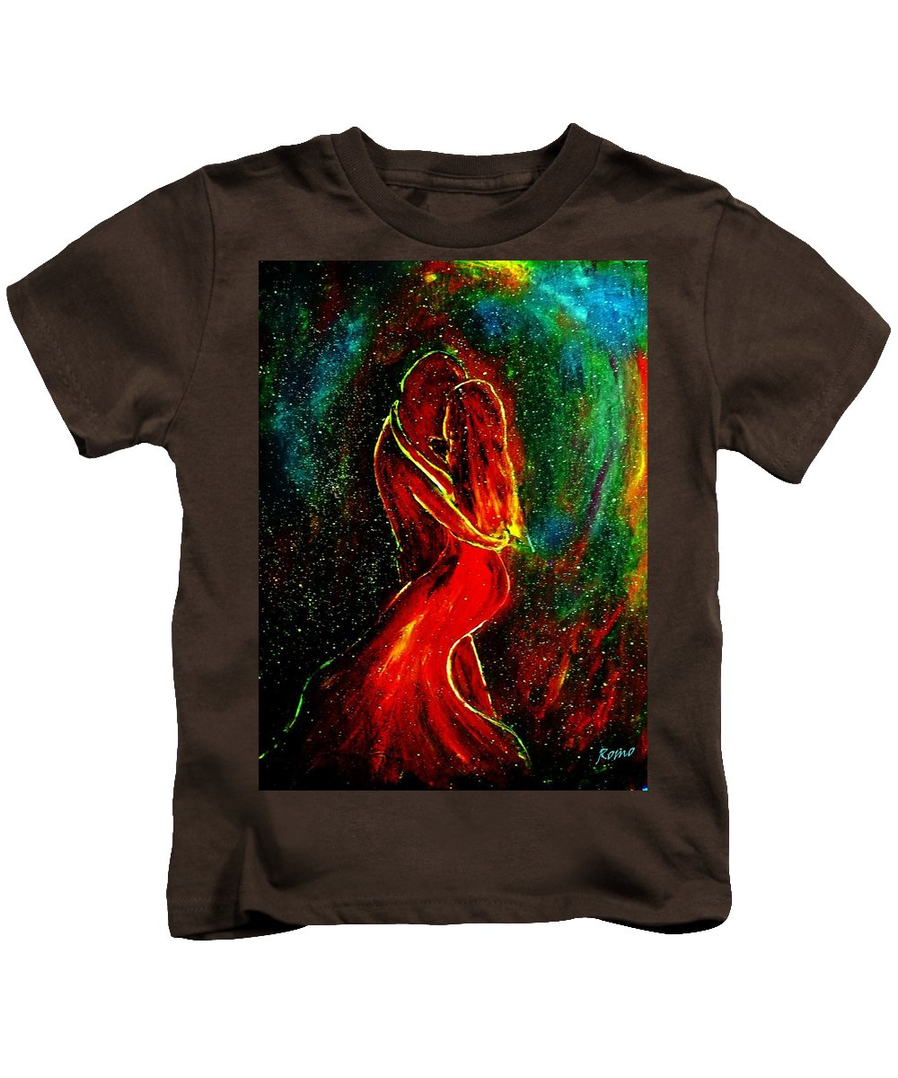 Dance Kids T-Shirt featuring the mixed media And They Danced by Robin Monroe