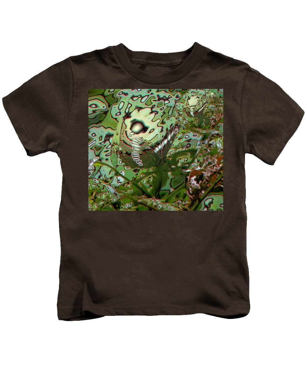 Abstract Kids T-Shirt featuring the photograph Butterfly by Jeff Swan