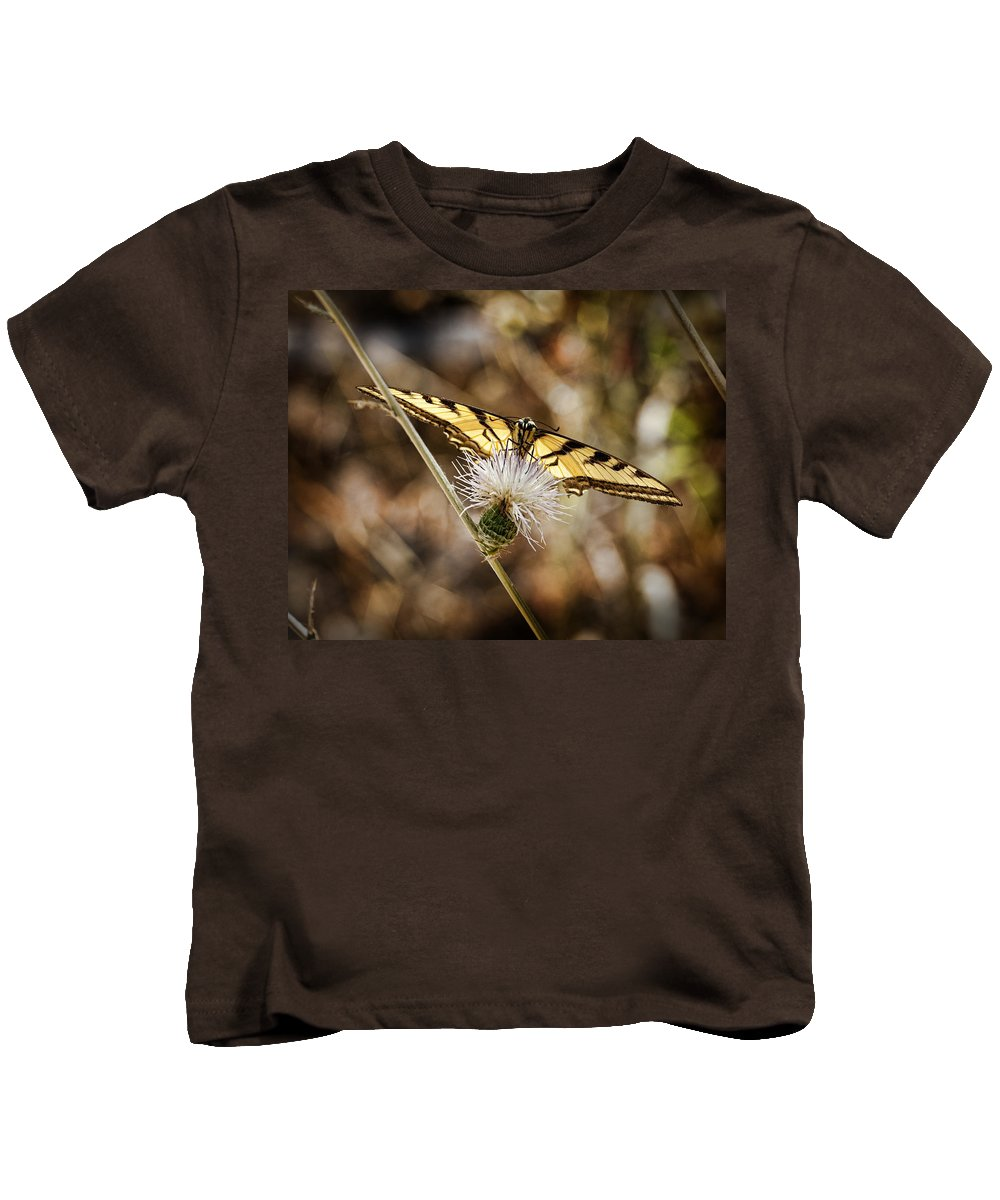 Butterfly Kids T-Shirt featuring the photograph Swallowtail Butterfly by Kelley King