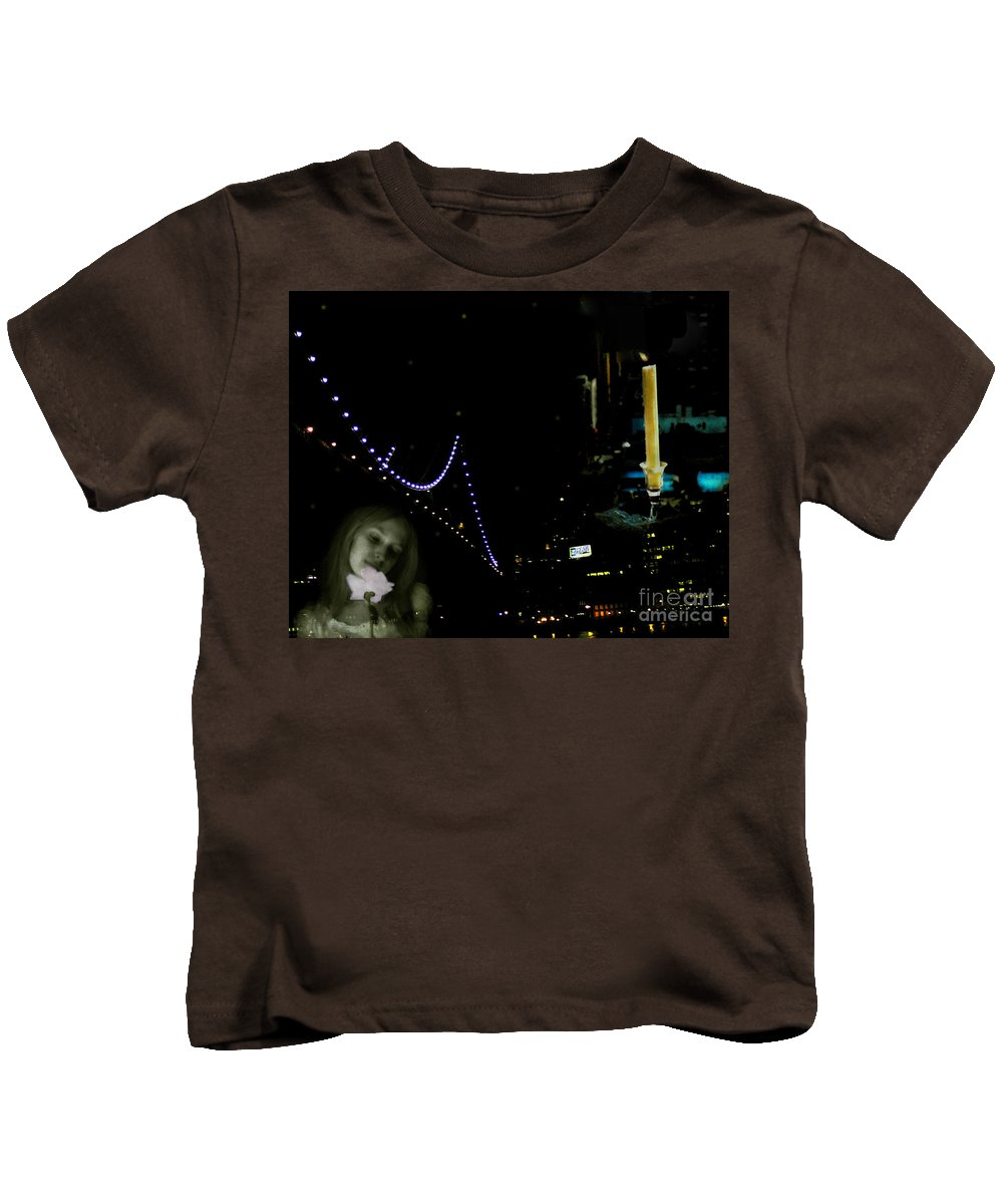 City Kids T-Shirt featuring the photograph City Of Dreams 2 by Madeline Ellis
