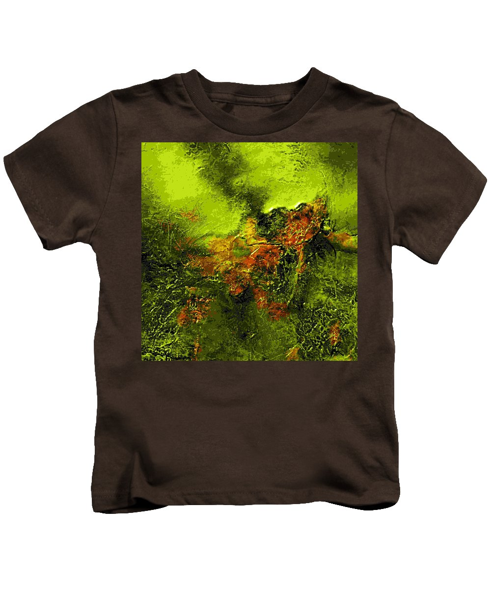 Eruption Kids T-Shirt featuring the mixed media eruption II by Dragica Micki Fortuna