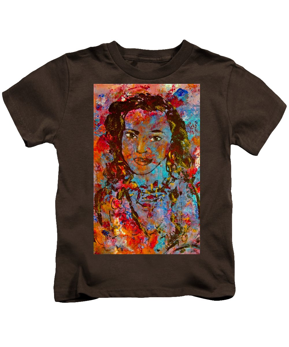 Princess Kids T-Shirt featuring the painting Exotic Princess by Natalie Holland