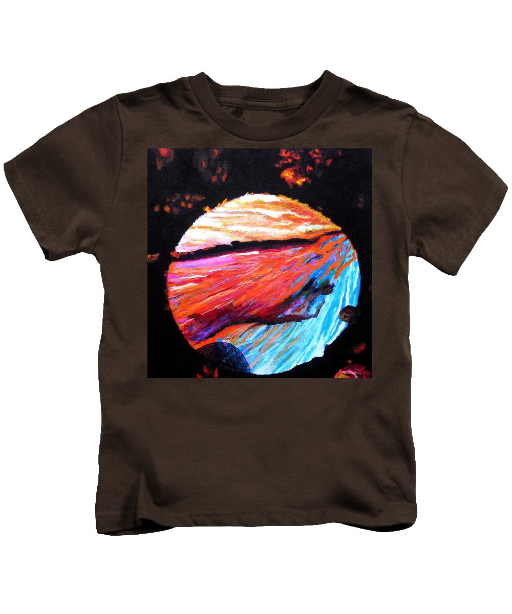 Abstract Kids T-Shirt featuring the painting Inspire Three by Stan Hamilton