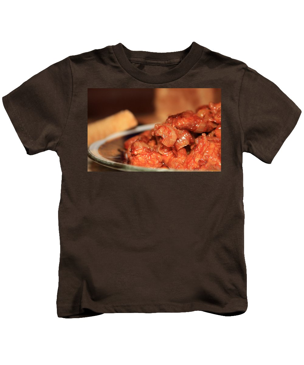 Meat Kids T-Shirt featuring the digital art Meat by Dorothy Binder