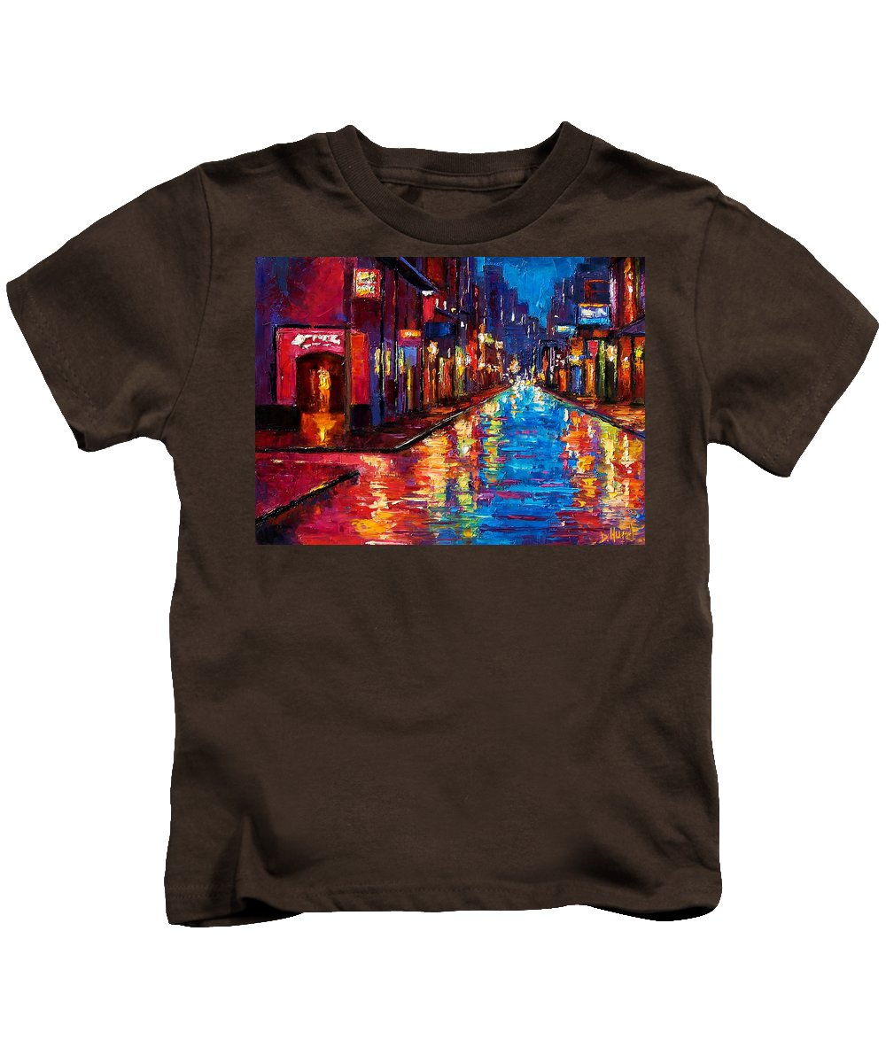New Orleans Art Kids T-Shirt featuring the painting New Orleans Magic by Debra Hurd
