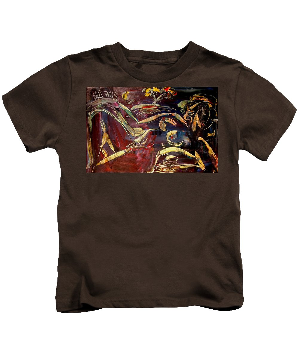 Nude Kids T-Shirt featuring the painting Nude by Mark Kazav