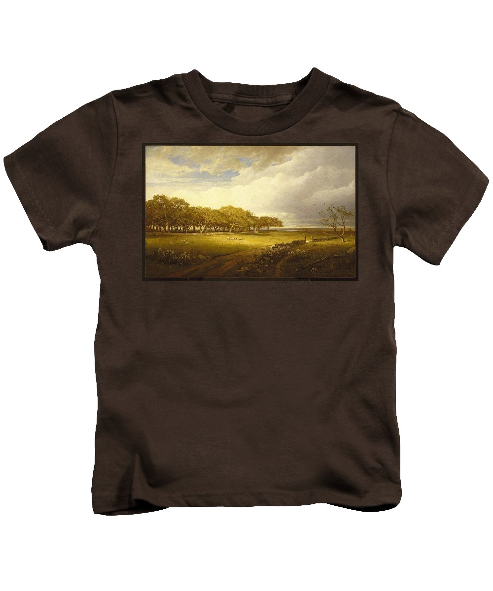 William Trost Richards (american Kids T-Shirt featuring the painting Old Orchard At Newport by William Trost Richards