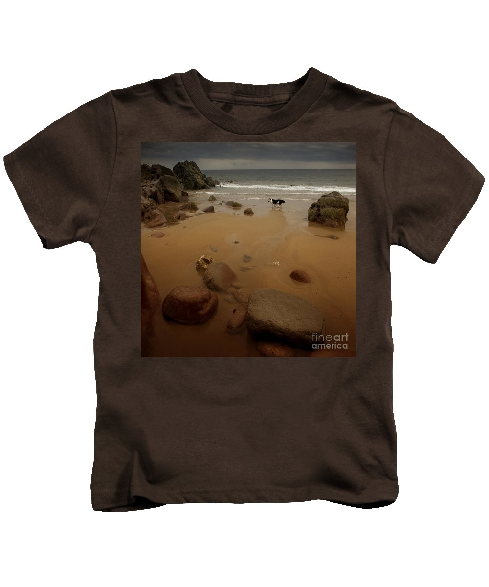 Beach Kids T-Shirt featuring the photograph On The Beach by Angel Tarantella
