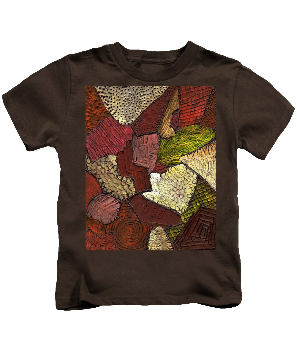 Patchwork Kids T-Shirt featuring the painting Patchwork by Wayne Potrafka