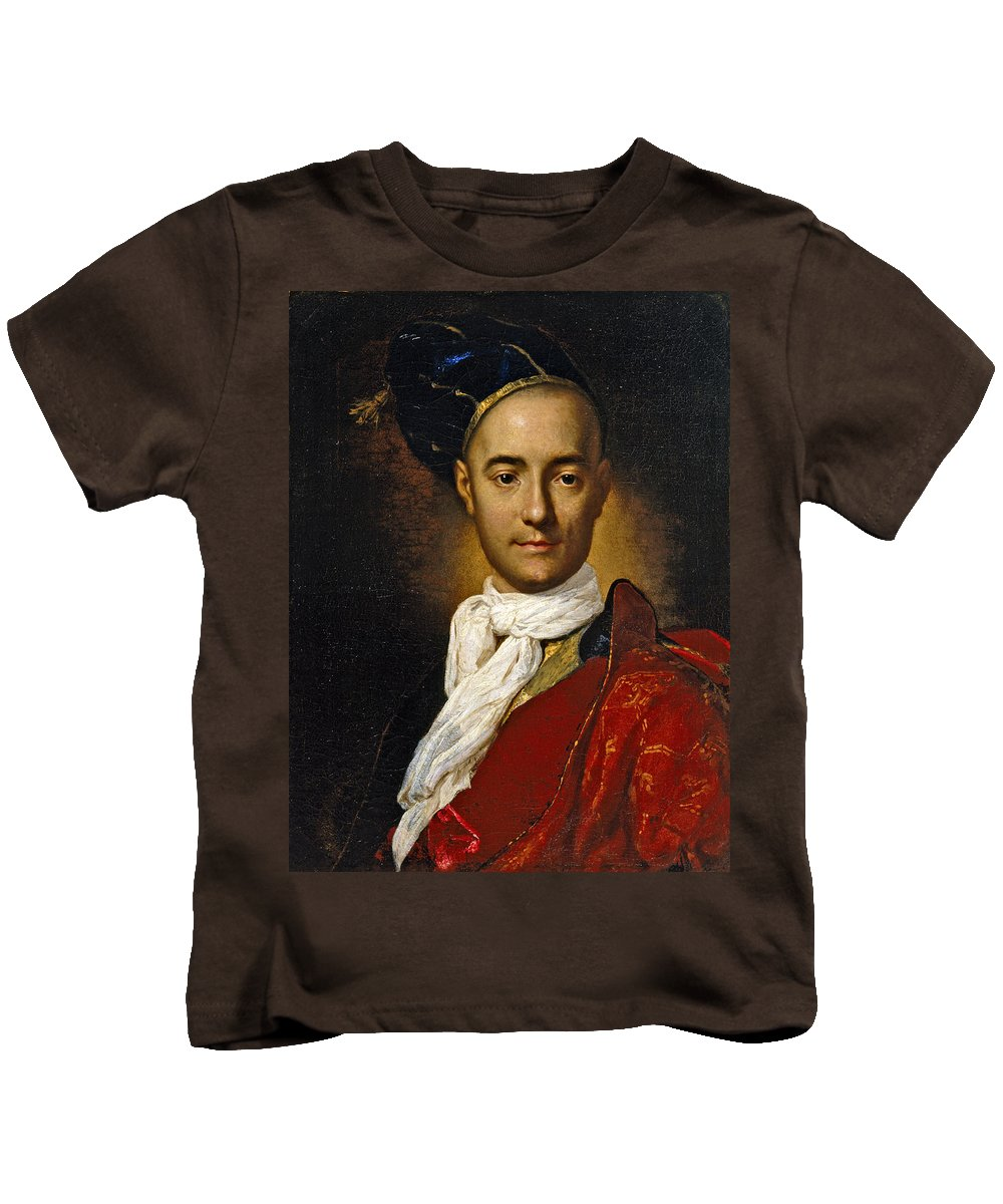 Fra Galgario Kids T-Shirt featuring the painting Portrait Of A Young Nobleman by Fra Galgario