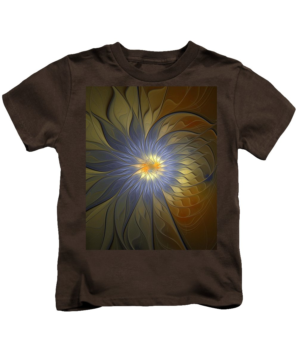 Digital Art Kids T-Shirt featuring the digital art Something Blue by Amanda Moore