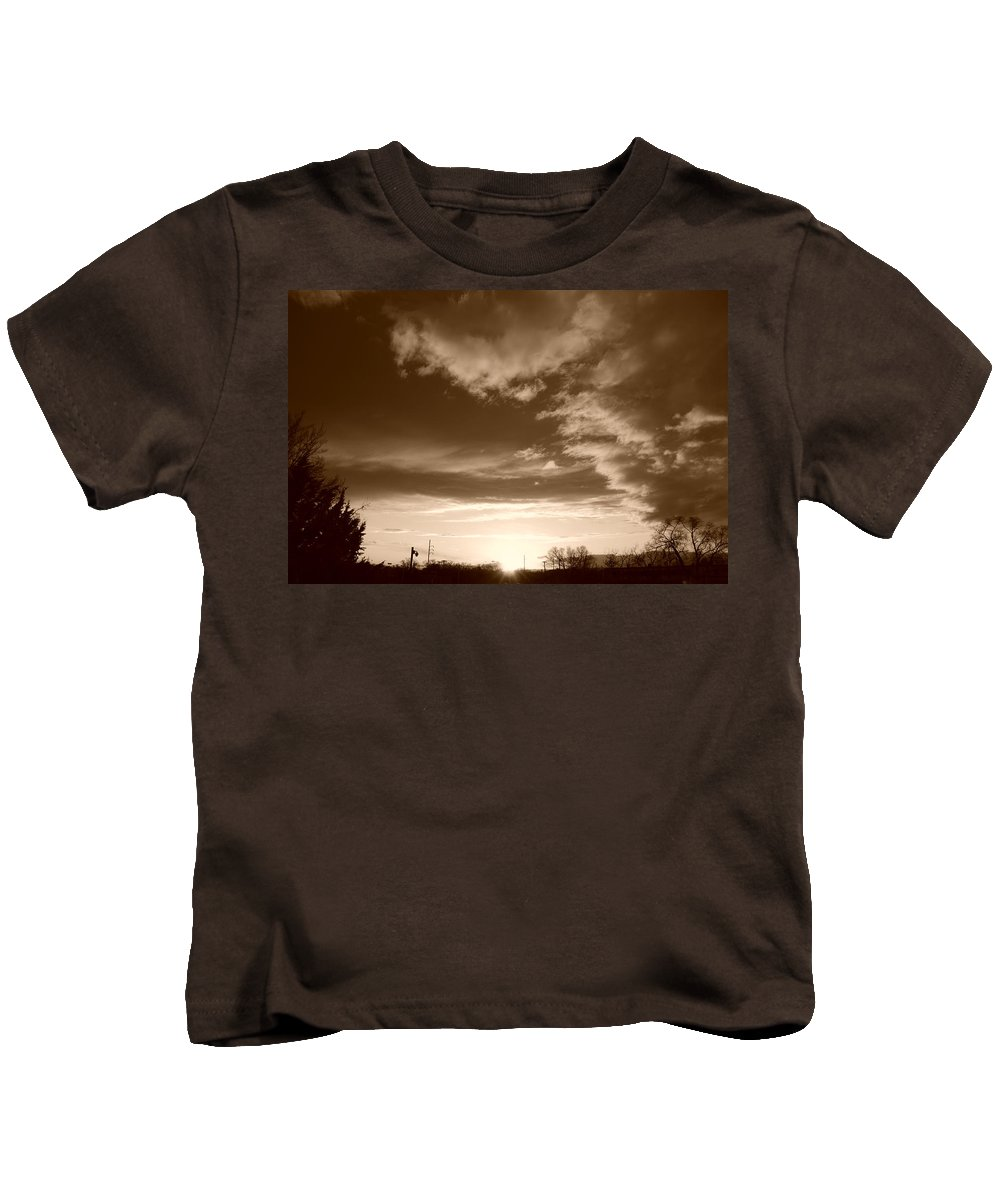 Sunset Kids T-Shirt featuring the photograph Sunset And Clouds by Rob Hans
