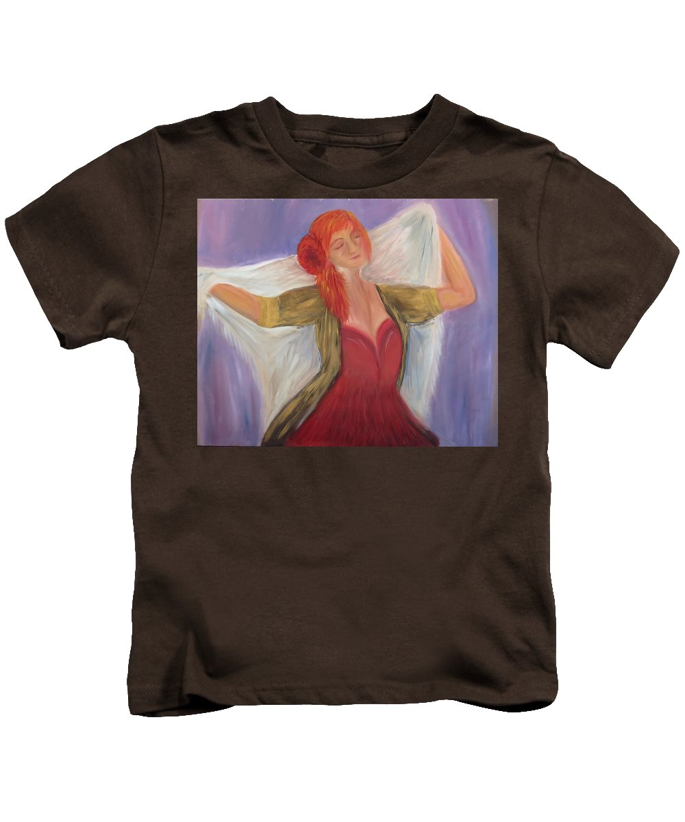 Dance Kids T-Shirt featuring the painting The Dancer by Taly Bar