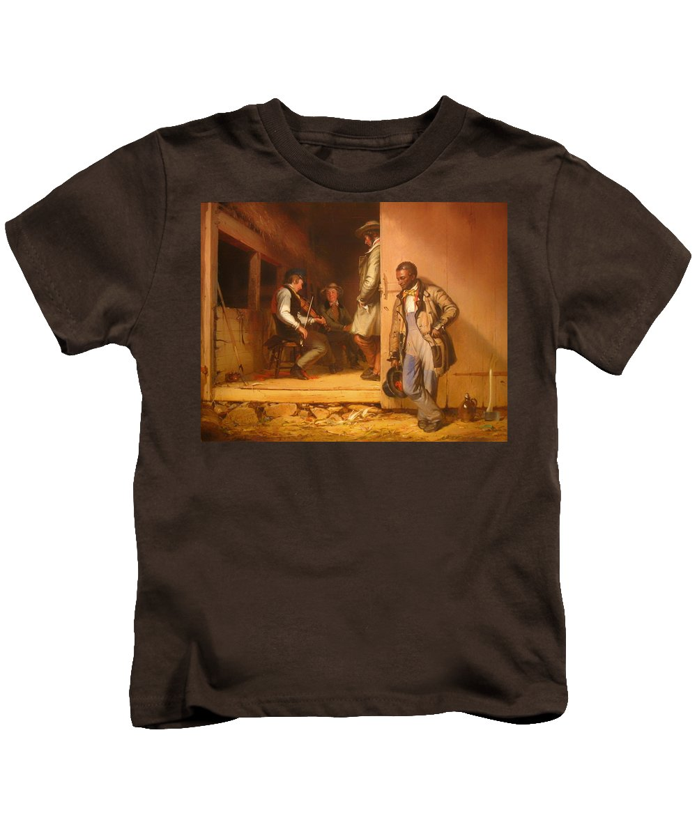 Painting Kids T-Shirt featuring the painting The Power Of Music by Mountain Dreams