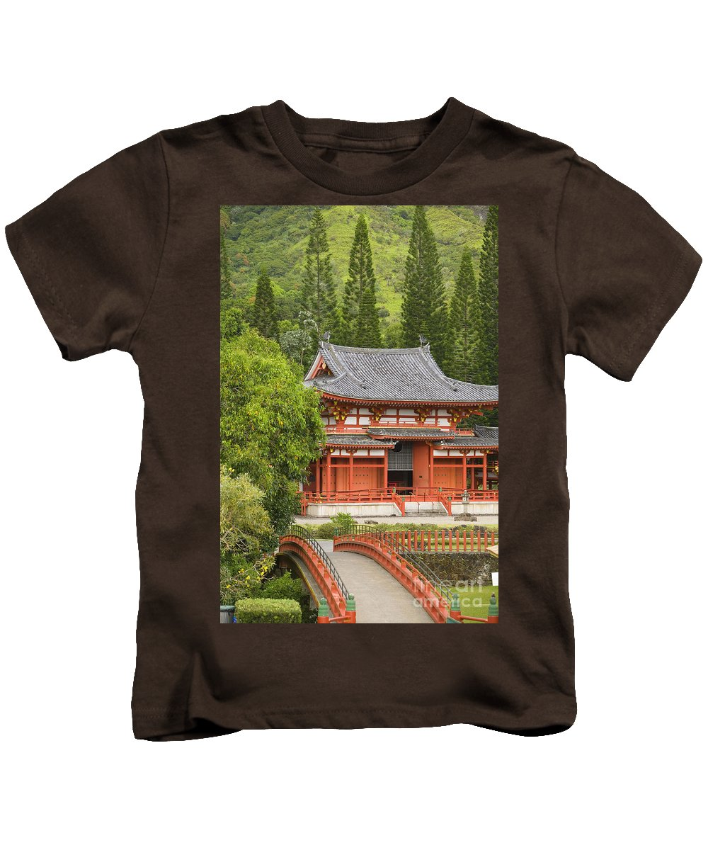 Ahuimanu Valley Kids T-Shirt featuring the photograph Valley Of The Temples by Ron Dahlquist - Printscapes