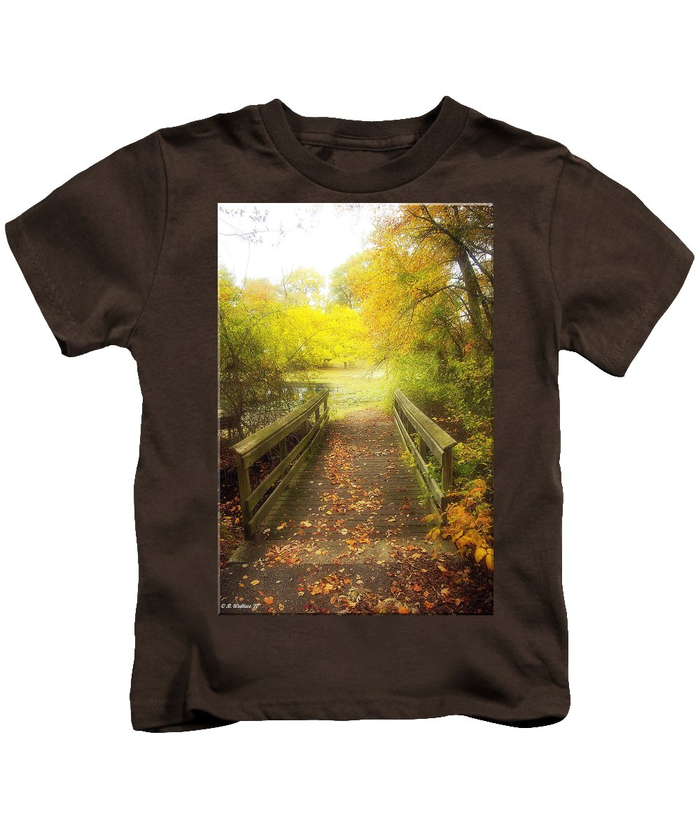 Bridge Kids T-Shirt featuring the photograph Wooden Bridge by Brian Wallace