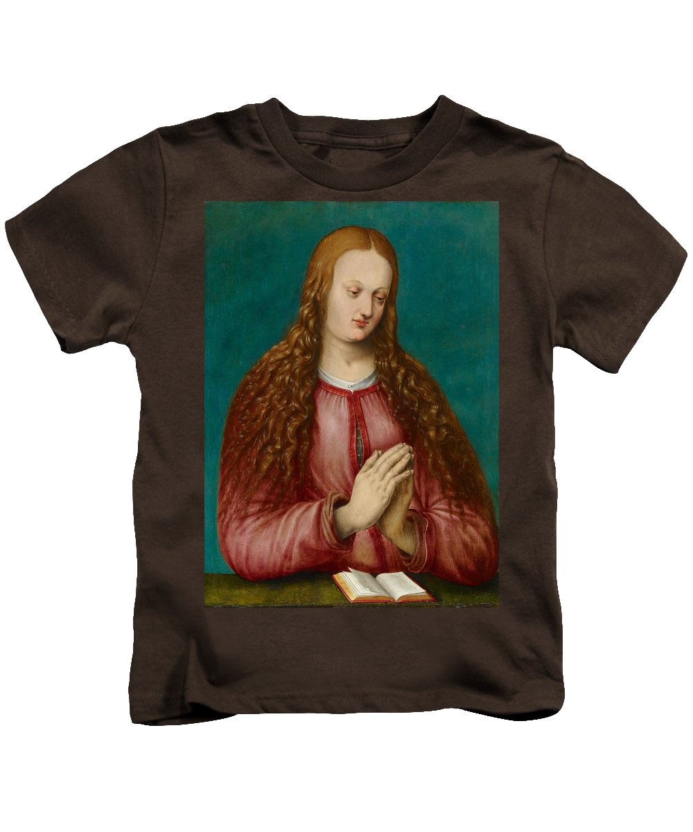 Albrecht D�rer Kids T-Shirt featuring the painting Young Woman Praying by MotionAge Designs