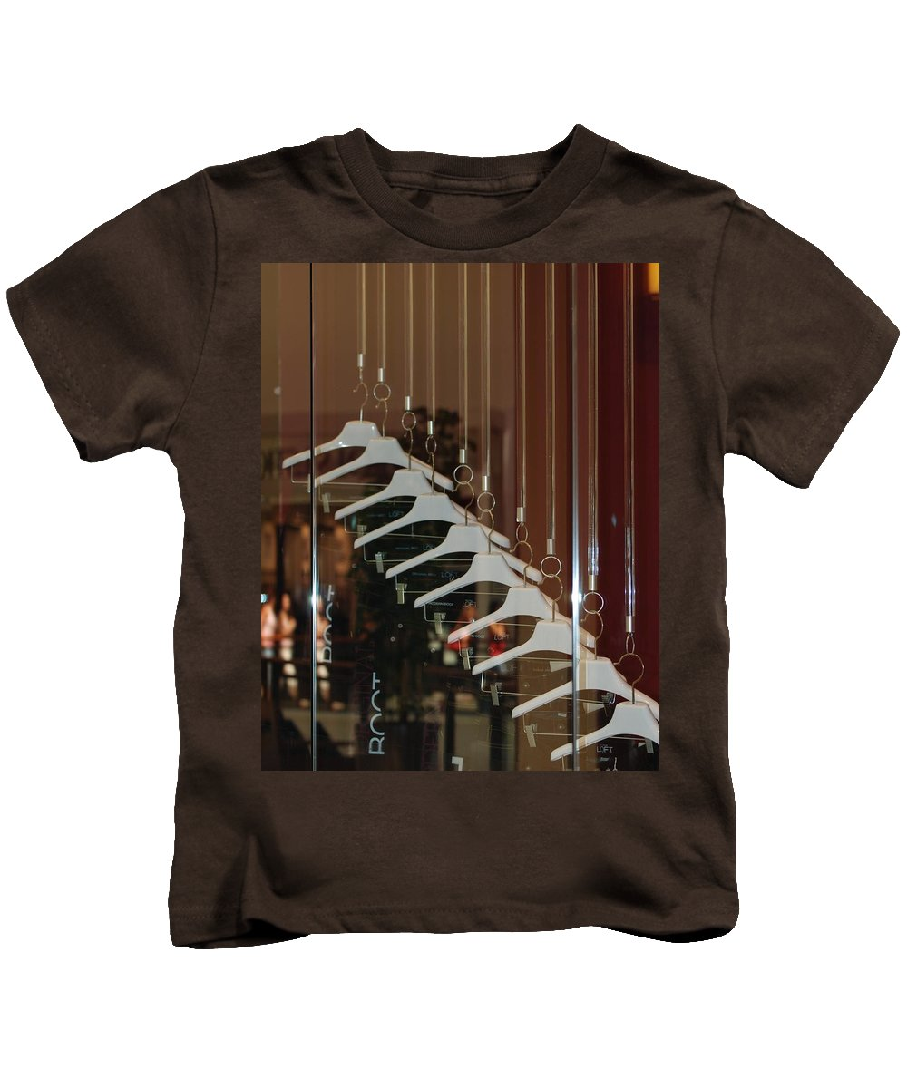 Hangers Kids T-Shirt featuring the photograph 10 Hangers by Rob Hans