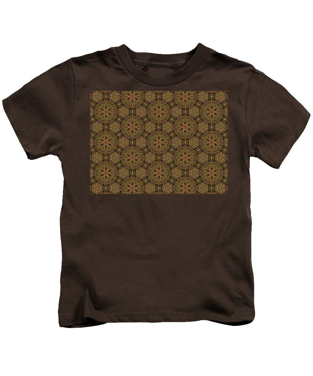 Marjan Mencin Kids T-Shirt featuring the digital art Arabesque 021 by Marjan Mencin