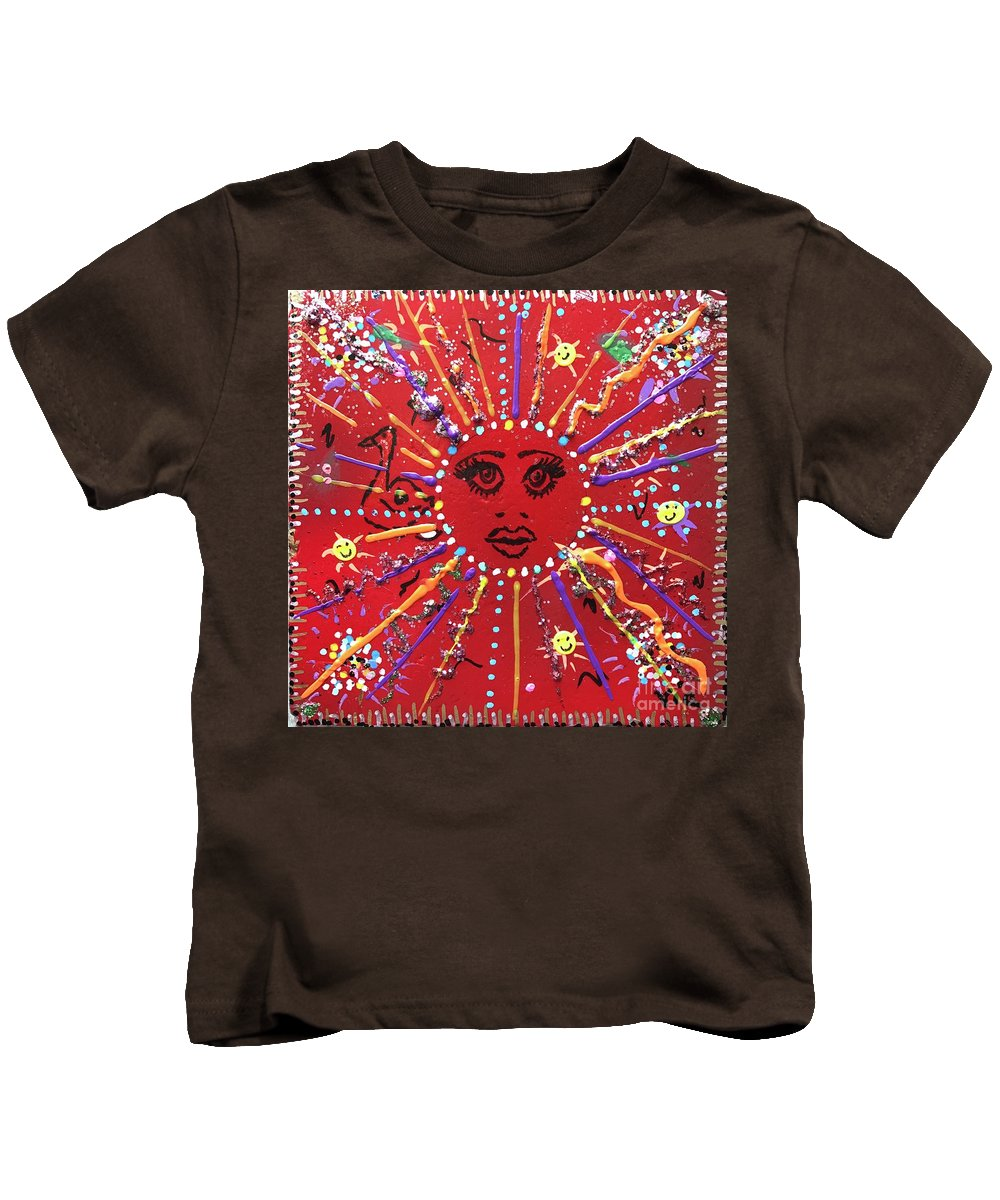 12 Days Of Christmas Kids T-Shirt featuring the mixed media 6th Days Of Christmas by Maria Pancheri