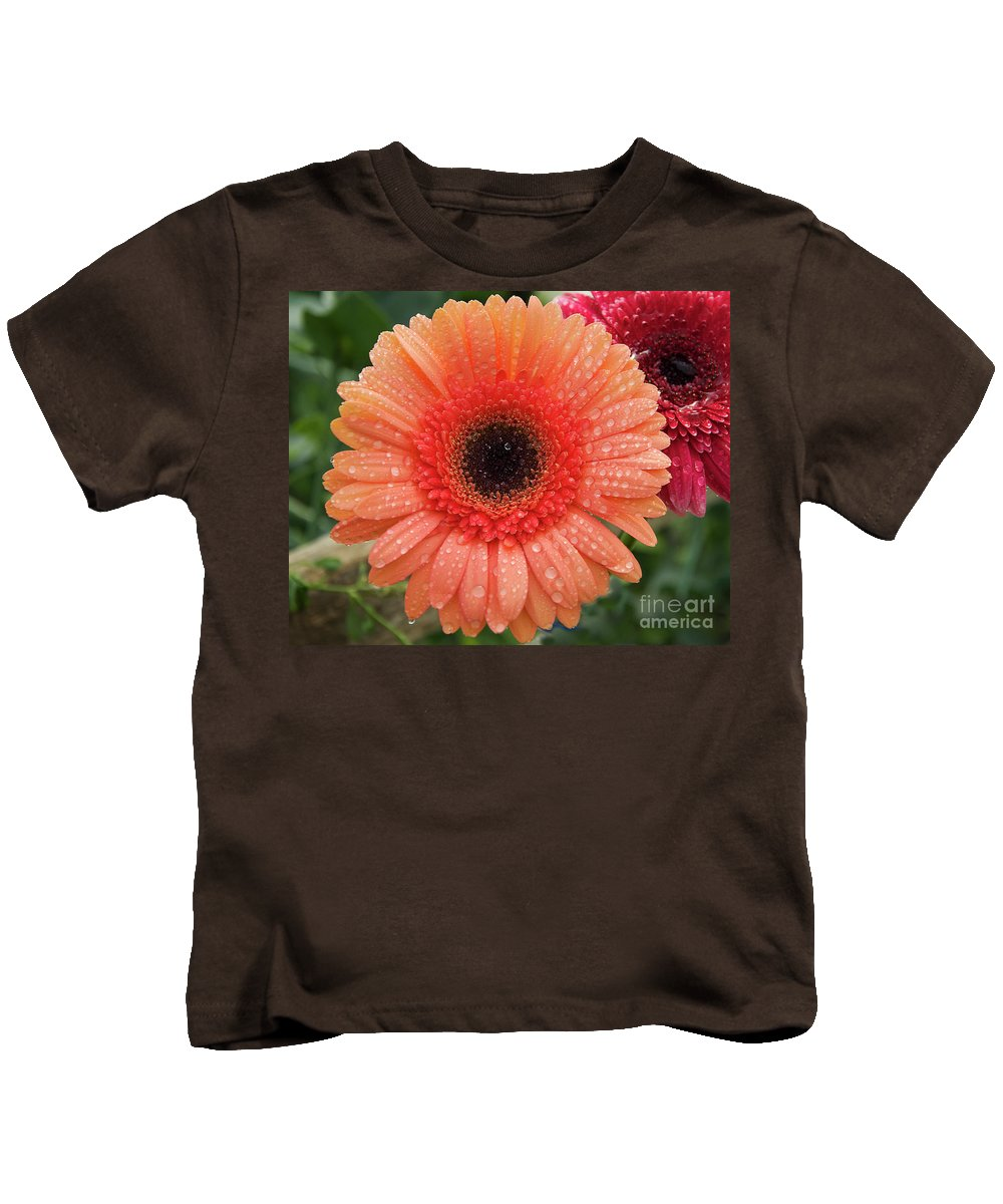 Flowers Kids T-Shirt featuring the photograph Two Gerbers by Elvira Ladocki