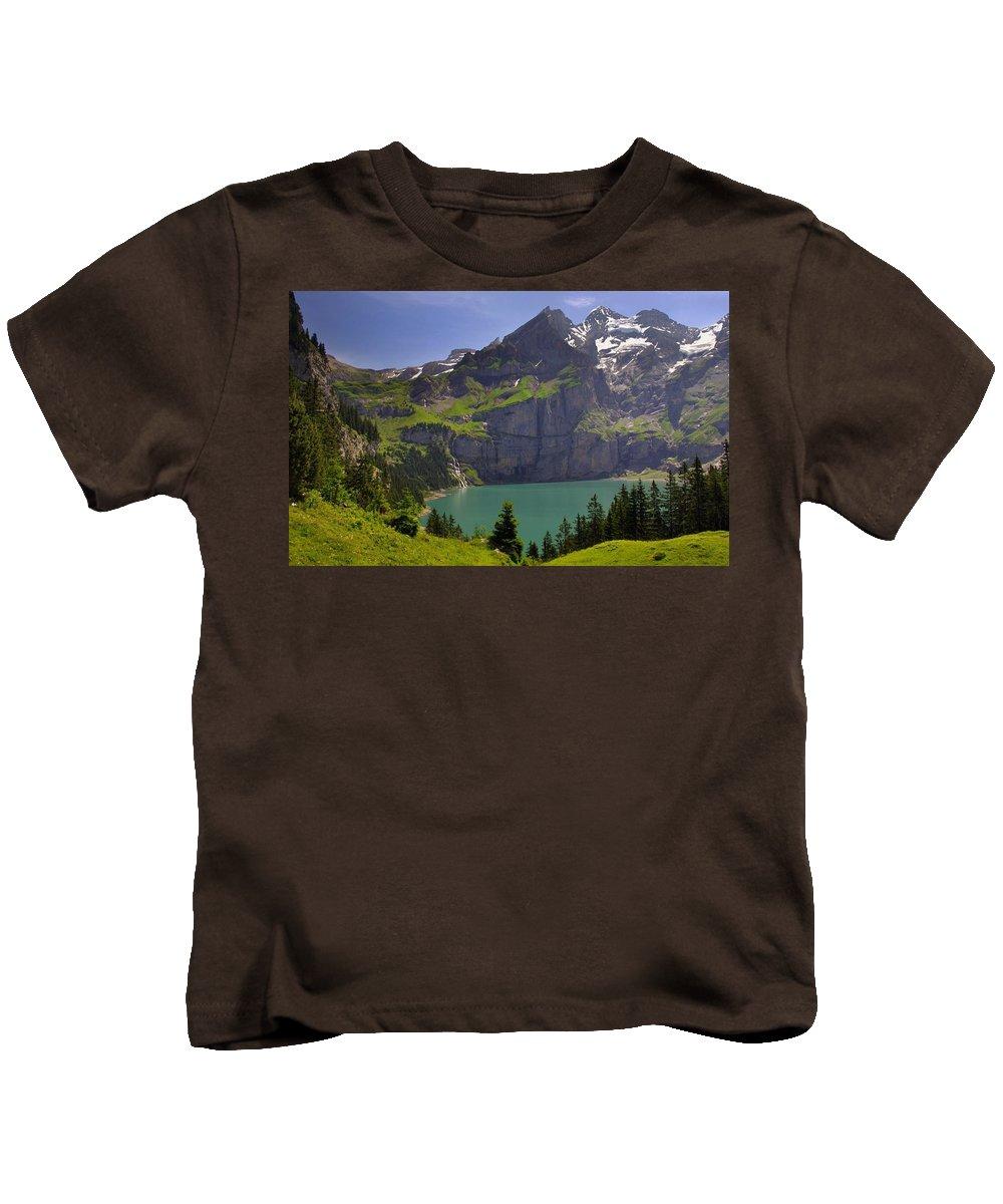 Lake Kids T-Shirt featuring the digital art Lake by Dorothy Binder