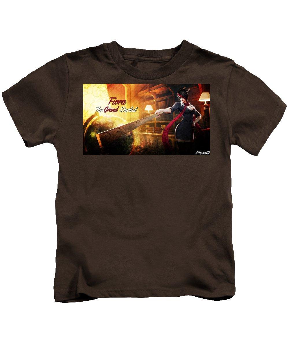 League Of Legends Kids T-Shirt featuring the digital art League Of Legends by Dorothy Binder