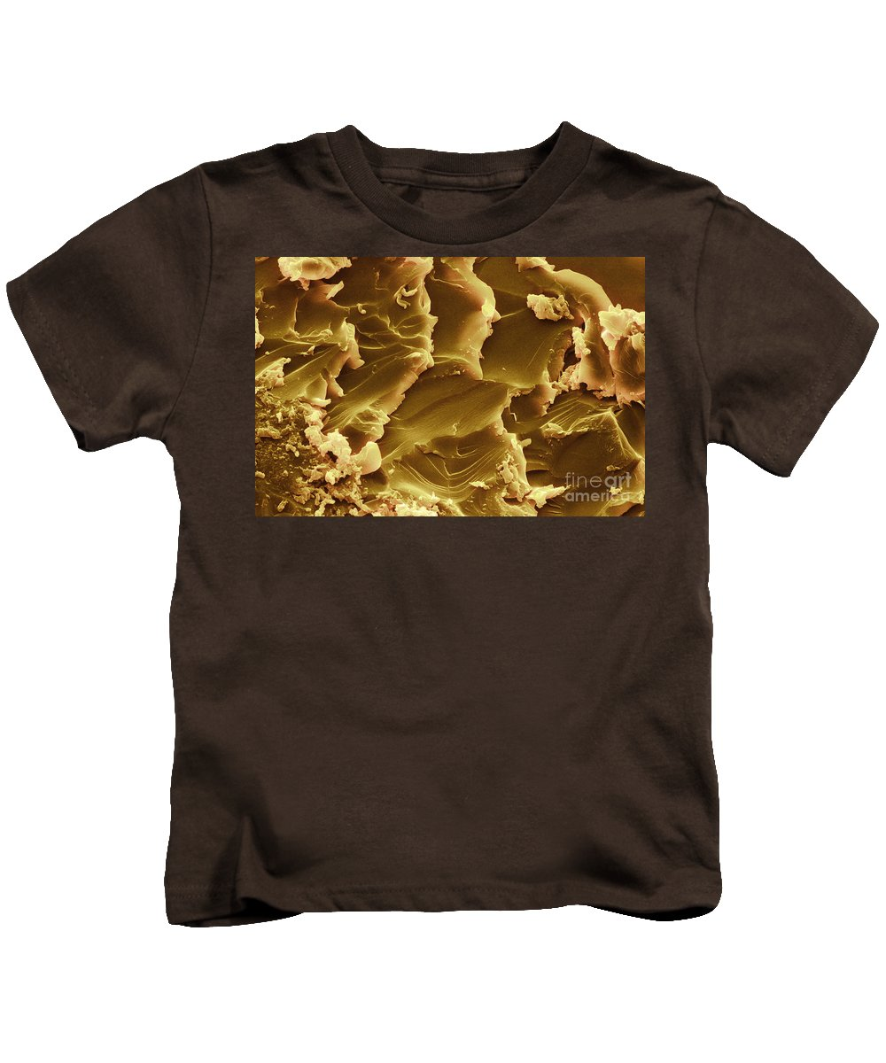 Sem Kids T-Shirt featuring the photograph Martian Meteorite, Sem by Ted Kinsman