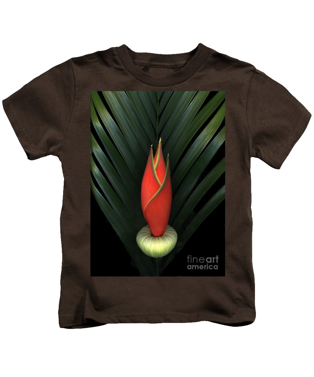 Scanart Kids T-Shirt featuring the photograph Palm Of Fire by Christian Slanec