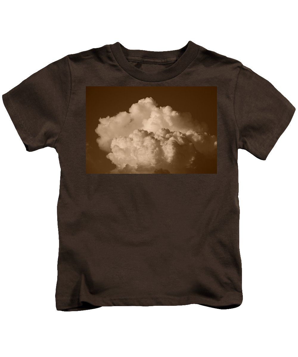 Sepia Kids T-Shirt featuring the photograph Sepia Clouds by Rob Hans