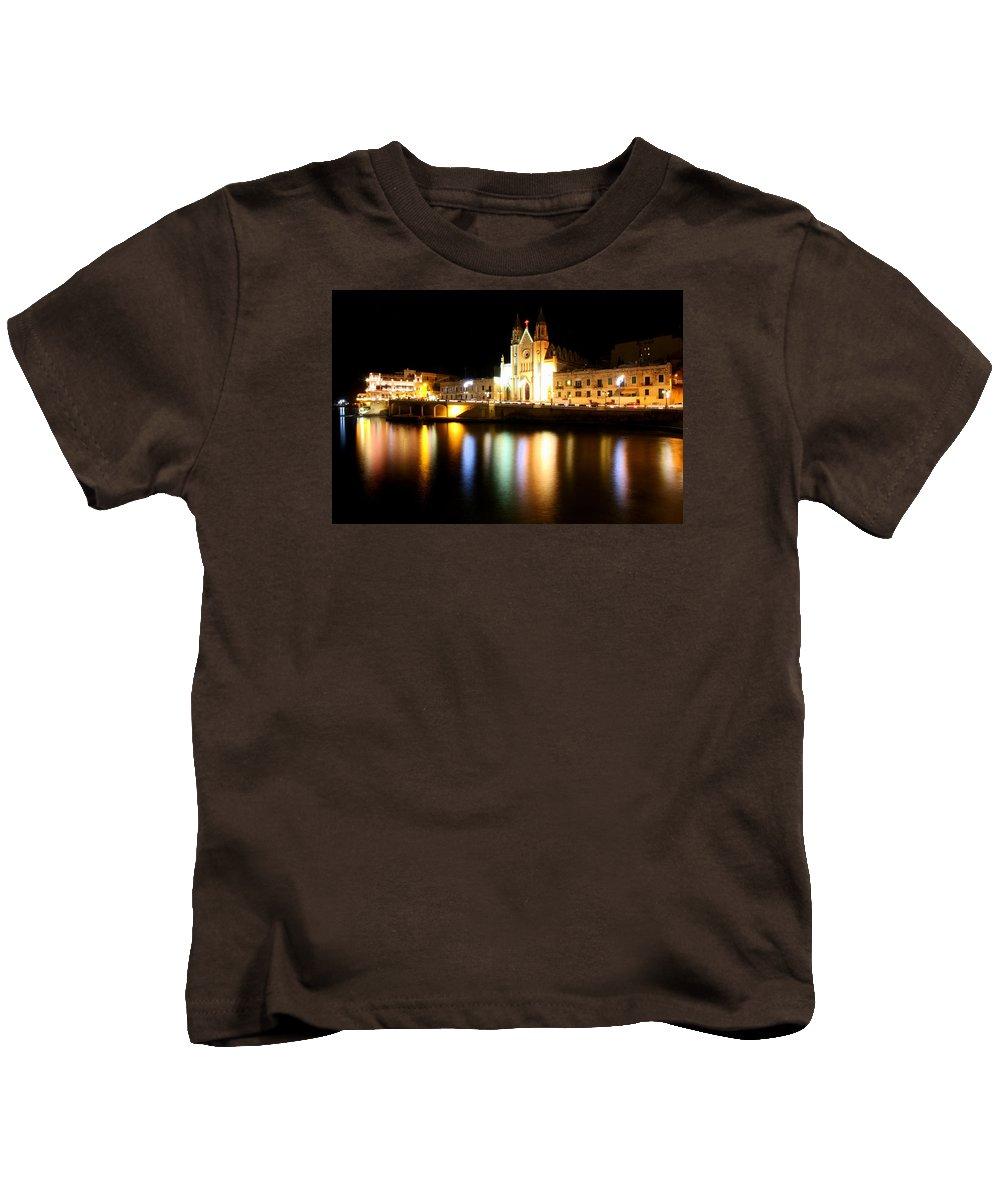 Valletta Kids T-Shirt featuring the photograph Valletta, Malta by Paul James Bannerman