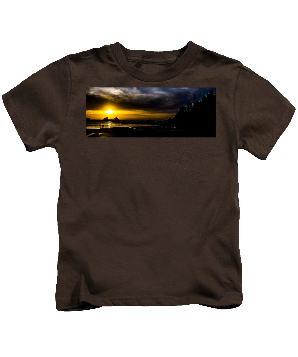 Kids T-Shirt featuring the photograph Sunset Beach by Angus Hooper Iii