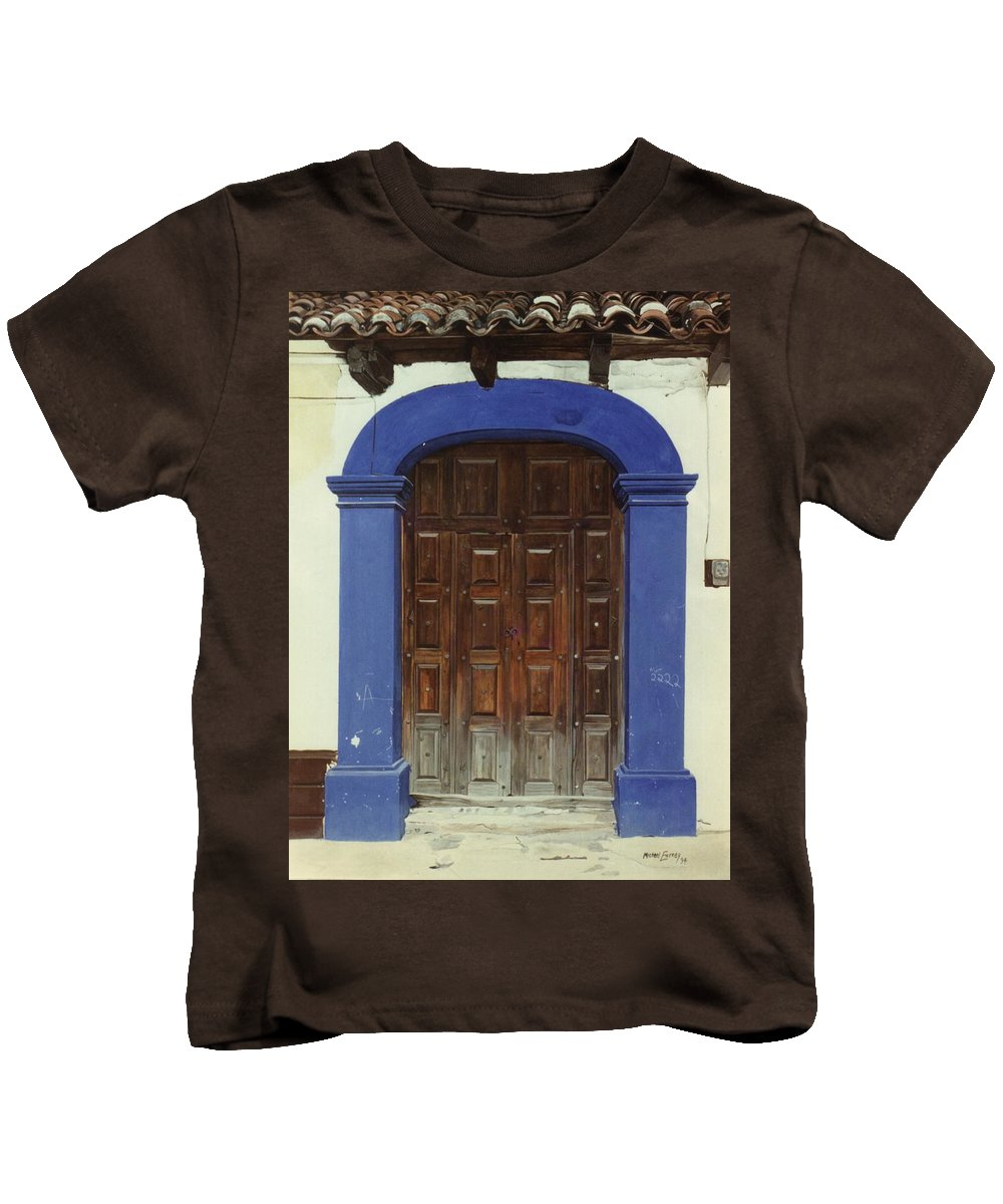 Hyperrealism Kids T-Shirt featuring the painting 2222 by Michael Earney