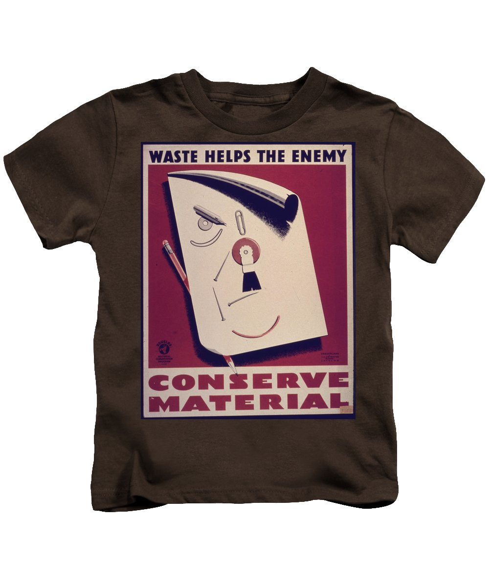 Marine Corps Recruiting Poster From World War Ii 4 Kids T-Shirt featuring the painting Marine Corps Recruiting Poster From World War by MotionAge Designs