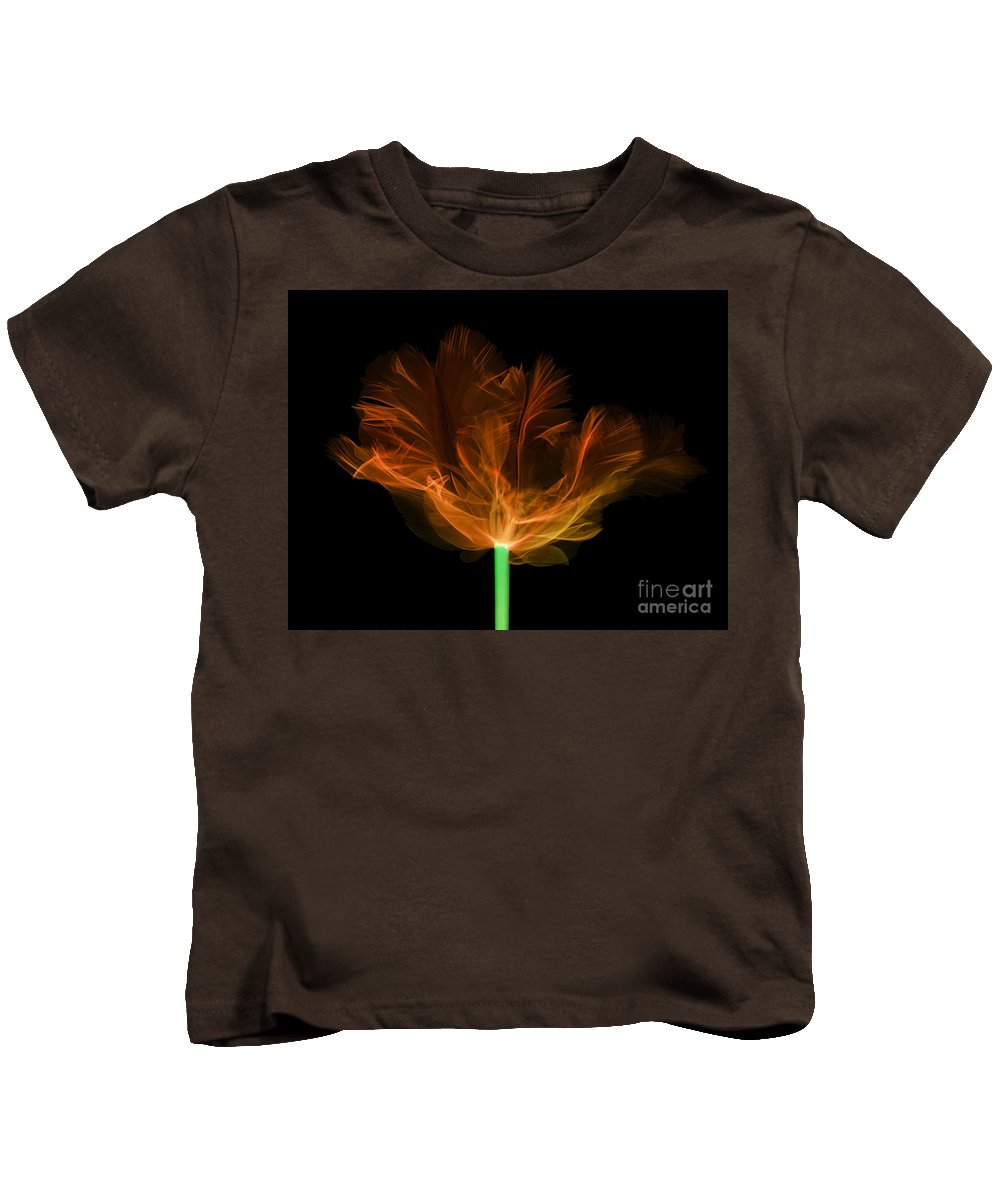 Tulip Kids T-Shirt featuring the photograph Tulips, X-ray by Ted Kinsman