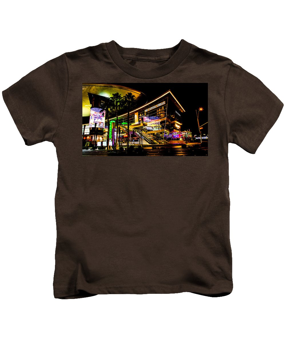 Kids T-Shirt featuring the photograph Ca Vegas by Angus Hooper Iii