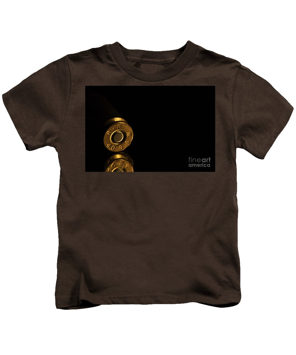 Bronze Kids T-Shirt featuring the photograph 40 S And W by Crystal J Harwood