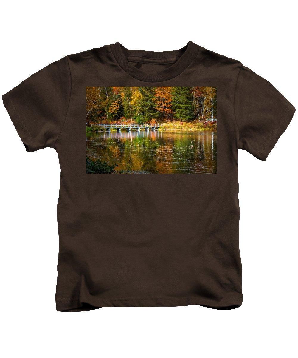 America Kids T-Shirt featuring the photograph Autumn Season In Killarney by Aqnus Febriyant